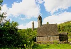 Capilla del St. Kevin en Glendalough fotografía de archivo