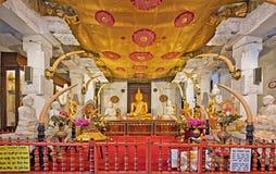 Capilla del templo del diente en Kandy, Sri Lanka imágenes de archivo libres de regalías