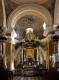 Capilla dominicana de la iglesia - Kraków - Polonia Imágenes de archivo libres de regalías
