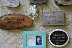 Capilla en el hilf de Maria en Alemania del sur imagen de archivo