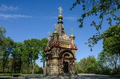 Capilla en el parque de Gomel belarus fotografía de archivo