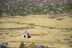Capilla en Estrela Montain, Portugal Fotografía de archivo