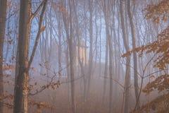 Capilla en la niebla Imágenes de archivo libres de regalías