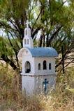 Capilla en reserva de naturaleza en Skala Kalloni Lesvos Grecia Fotografía de archivo