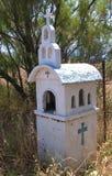 Capilla en reserva de naturaleza en Skala Kalloni Lesvos Grecia Imagen de archivo libre de regalías