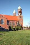 Capilla en una vertical del campus de la universidad Imagen de archivo