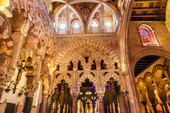 Capilla erster Christian Chapel Arches Mezquita Cordoba Spanien stockfotografie
