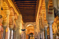 Capilla First Christain Chapel Arches Mezquita Cordoba Spain Royalty Free Stock Image