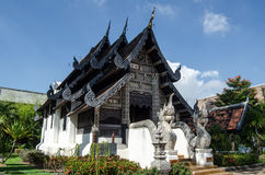Capilla histórica, Wat Chedi Luang, Tailandia Foto de archivo