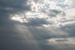 Capilla ligera a través de la nube Imagen de archivo libre de regalías