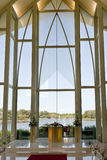 Capilla moderna de la boda Imagen de archivo