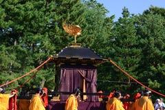 Capilla portátil en el desfile de Jidai Matsuri, Japón imagen de archivo