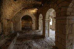 Capilla Románica de San Pedro en la abadía de Montmajour cerca de Arles Fotografía de archivo libre de regalías