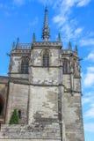 Capilla Santo-Huberto, d'Amboise de Château, Amboise, Francia foto de archivo