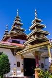 Capilla Shan Style en Wat Nong Kok Kam Fotos de archivo