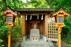 Capilla sintoísta de Arakura Sengen, Fujiyoshida, Japón fotos de archivo