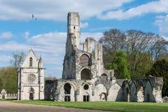 Capilla y abadía real de Fontaine Chaalis Fotografía de archivo