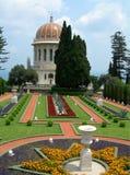 Capilla y jardín, Israel de Bahai Imagen de archivo