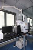 Capillaire GC-2014 standard et chromatographe en phase gazeuse emballé Image libre de droits