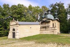 Capillas de la manera de cruz en Kalwaria Zebrzydowska, Polonia foto de archivo libre de regalías