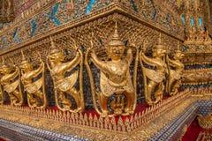 Capillas magníficas de Wat Phra Kaew del palacio de Bangkok, Tailandia Foto de archivo libre de regalías