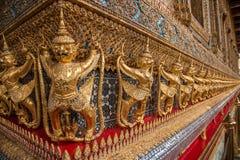 Capillas magníficas de Wat Phra Kaew del palacio de Bangkok, Tailandia Fotos de archivo
