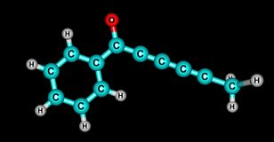 Capillin molecular structure isolated on black Royalty Free Stock Photo