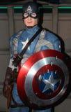 Capitán América en señora Tussaud Foto de archivo libre de regalías
