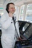 Capitán de la nave del océano foto de archivo