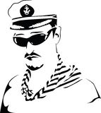 Capitán de mar. Vector. imagenes de archivo