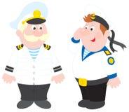 Capitán de mar y marinero Fotos de archivo libres de regalías