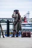 Capitán de un barco pirata fotografía de archivo