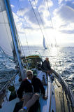 Capitán en cubierta Foto de archivo libre de regalías