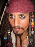 Capitán Jack Sparrow Johnny Depp foto de archivo