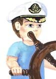 Capitán joven stock de ilustración