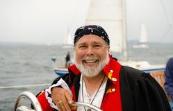 Capitán sonriente del pirata Fotos de archivo libres de regalías