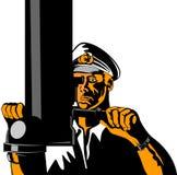 Capitán submarino Foto de archivo