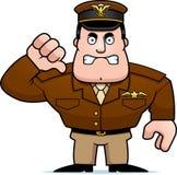 Capitán Thumbs Down de la historieta Fotografía de archivo