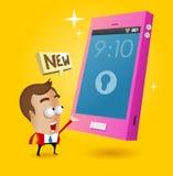 Capitânia nova do smartphone Imagens de Stock