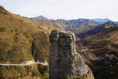 Capitães Canyon Road, Queenstown, Nova Zelândia Foto de Stock Royalty Free