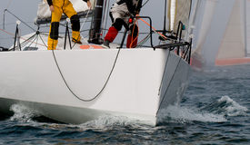Capitão da equipe no regatta Foto de Stock Royalty Free