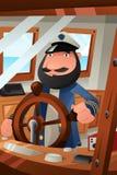 Capitão do barco no dever Imagens de Stock Royalty Free