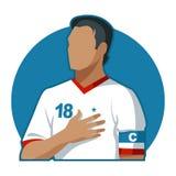 Capitão do futebol Imagens de Stock Royalty Free