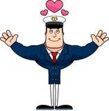 Capitão Hug do barco dos desenhos animados ilustração do vetor