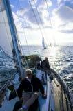 Capitão na plataforma Foto de Stock Royalty Free