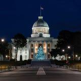 Capitólio do estado de Alabama na noite fotografia de stock royalty free