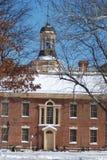 Capitólio do estado de Delaware na neve Foto de Stock