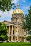 Capitólio do estado de Des Moines Iowa Foto de Stock Royalty Free