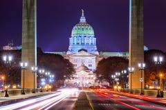 Capitólio do estado de Pensilvânia Fotos de Stock Royalty Free