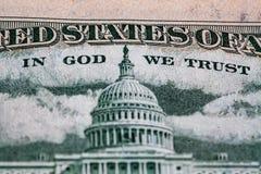 Capitólio do Estados Unidos descrito na conta de 50 USD Foto de Stock Royalty Free